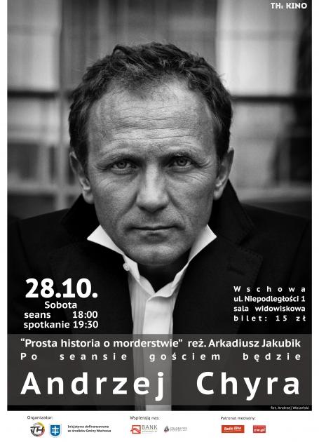 plakat ze zdjęciem Andrzeja Chyry