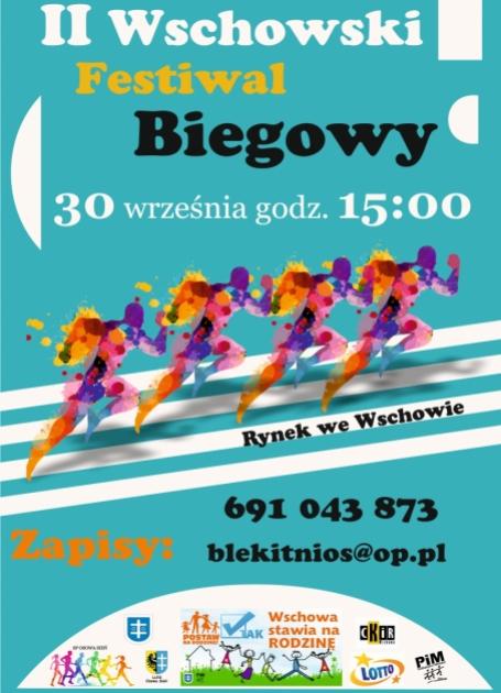 plakat z czterema biegaczami