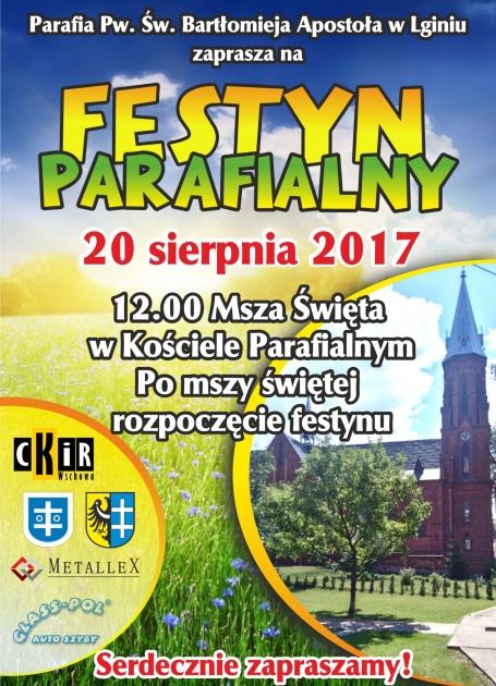 plakat festynu parafialnego