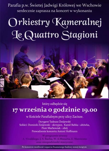zdjęcie orkiestry z programem koncertu