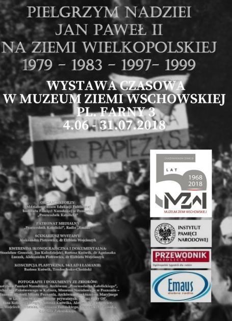 plakat informacyjny ze zdjęciem pielgrzymów