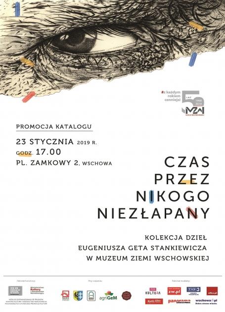 plakat informacyjny z grafiką malarza