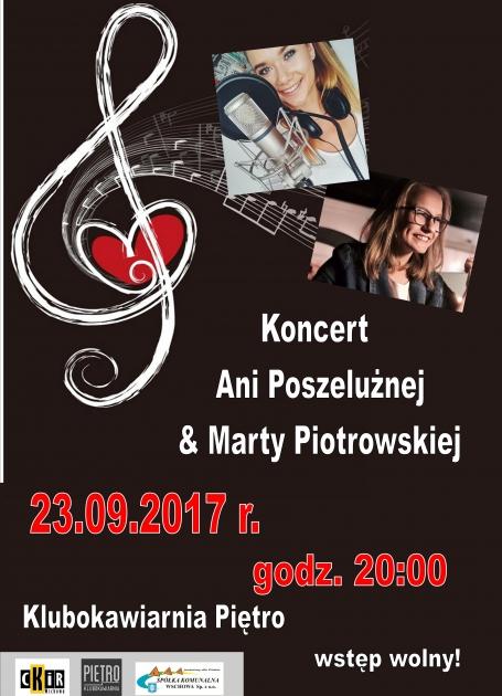plakat ze zdjęciem Ani Poszelużnej i Marty Piotrowskiej