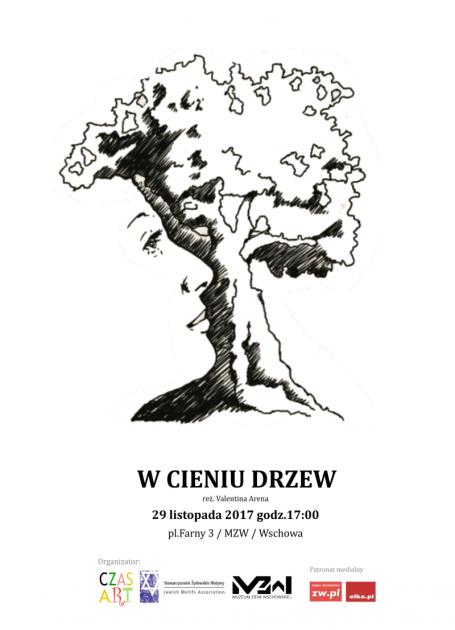 plakat z grafiką drzewa