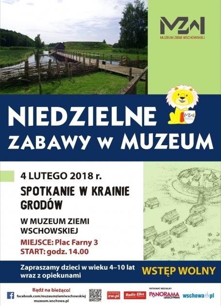 plakat informacyjny z grafiką grodu