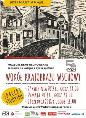 plakat z grafiką miasta