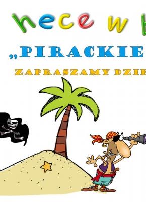 plakat z piratem na wyspie