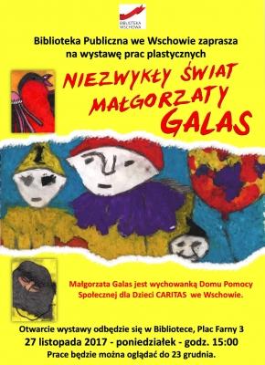 plakat z obrazem małgorzaty przedstawiającym trzy postacie