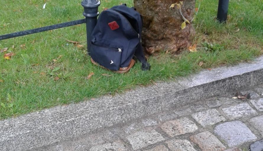 Miejsce znalezienie plecaka