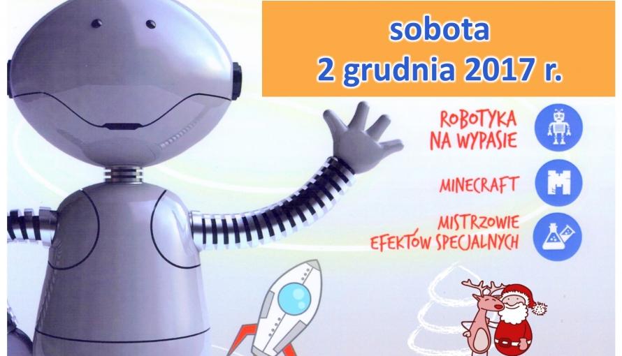 plakat informacyjny z grafiką robota
