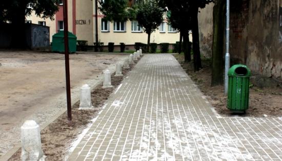 chodnik przy ulicy kościuszki