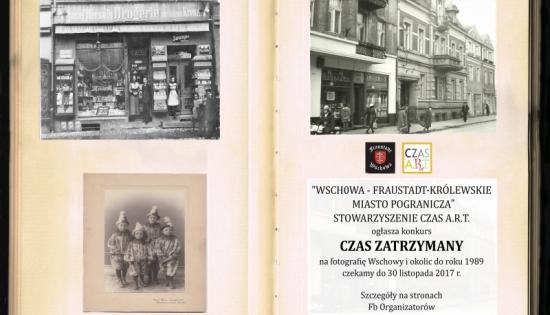 plakat ze starymi zdjęciami Wschowy