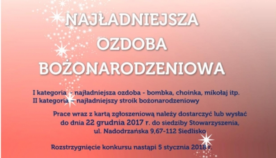 plakat informacyjny z grafiką zimową