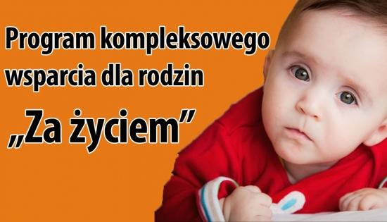 plakat informacyjny z tekstem i zdjęciem dziecka