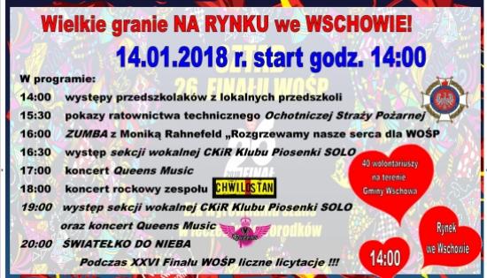 plakat informacyjny z logo WOŚP