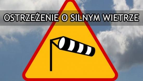 znak ostrzegający o silnym wietrze