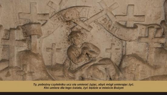 plakat na zaduszki zdjęcie fragmentu epitafium