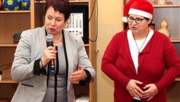 burmistrz i dyrektorka przedszkola