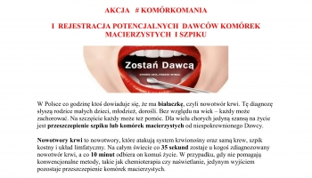 plakat informacyjny o akcji