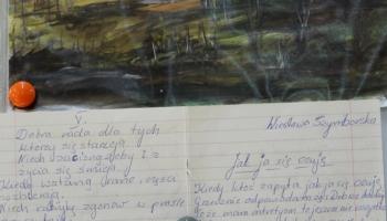 wiersz i praca plastyczna wykonane przez uczestników zajęć