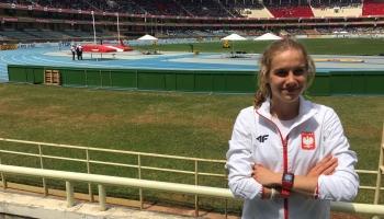 Klaudia Pawlus na stadionie
