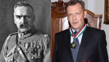 zdjęcie Józefa Piłsudskiego i jego odtwórcy Jana Frycza