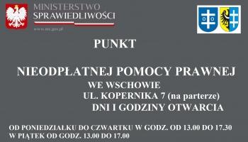 plakat z informacją tekstową