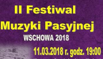 II Festiwal Muzyki Pasyjnej plakat muzyki pasyjnej