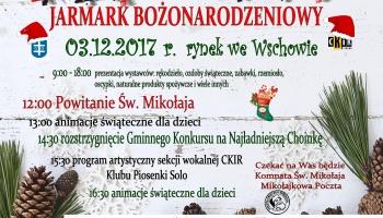 plakat z programem i świątecznymi emblematami