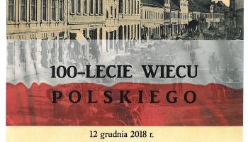 plakat tekstowy ze starym zdjęciem ulicy Niepodległości