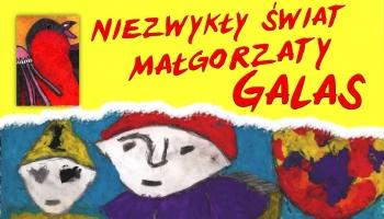 plakat z pracą plastyczną przedstawiającą trzy postacie