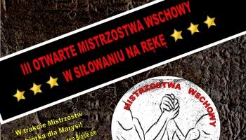 plakat informacyjny z grafiką dwóch siłujących się rąk