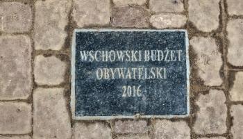 napis na kostce Wschowski Budżet Obywatelski 2016
