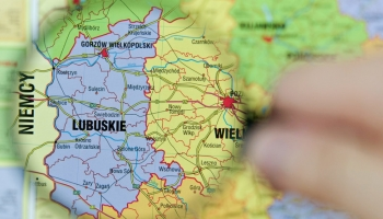 mapa woj. lubuskiego i granicy