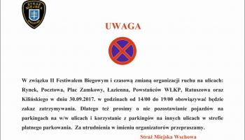 tekst o czasowej zmianie organizacji ruchu
