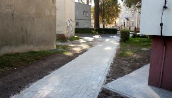 nowy chodnik przy ulicy rzemieślniczej