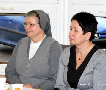 burmistrz z siostrą dyrektor