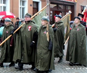 harcerze w przemarszu niepodległościowym