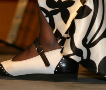 biało czarne buty damskie do tańca