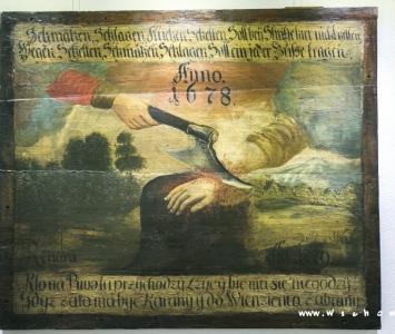 obraz przedstawiający ucinaną dłoń z muzeum ziemi